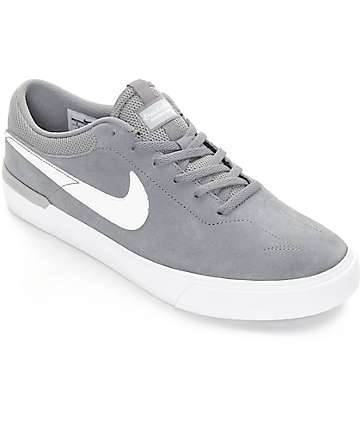 Nike SB Koston Hypervulc Cool Grey & White Skate Shoes