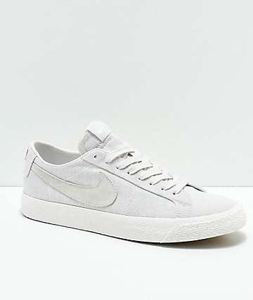 Nike SB Lance Mountain Blazer Low Deconstructed Grey Canvas Skate Shoes