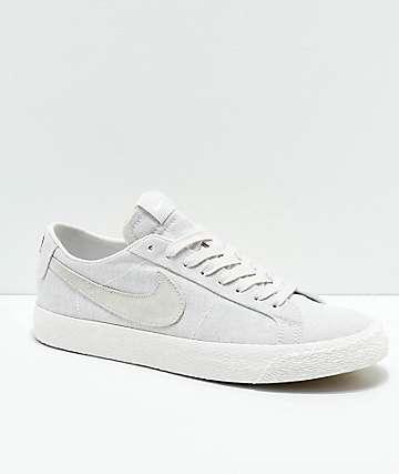 Nike SB Lance Mountain Blazer Low Deconstructed zapatos de skate de lienzo gris