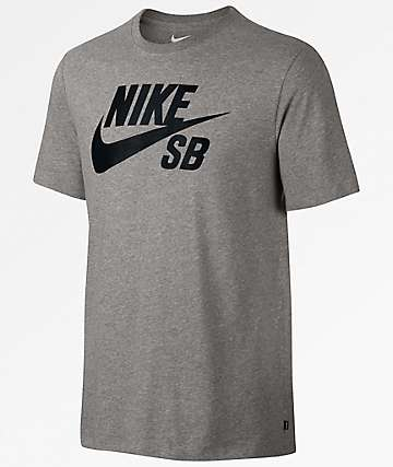 Nike SB Logo Dri-Fit Grey & Black T-Shirt