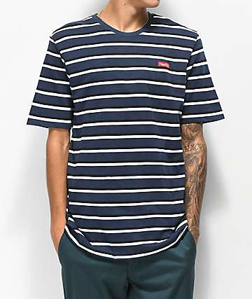 Nike SB Navy, Black & White Striped T-Shirt
