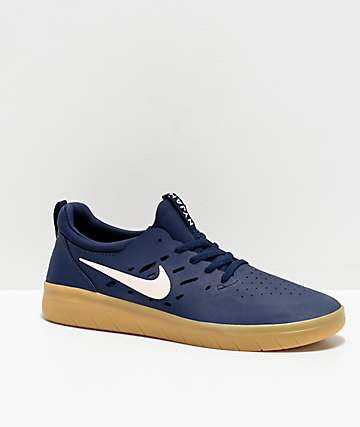 Nike SB Nyjah Blue & Gum Skate Shoes