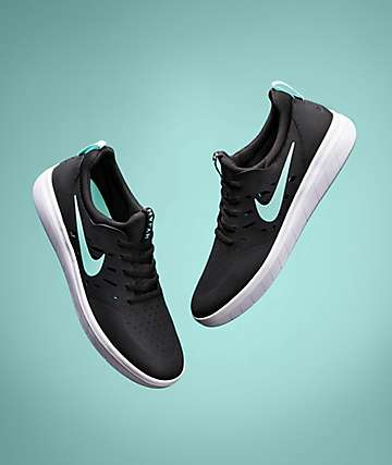 Nike SB Nyjah Free Black, Tropical Twist & White Skate Shoes