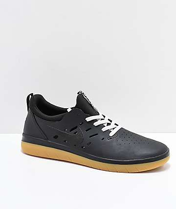 Nike SB Nyjah Free Black & Gum Skate Shoes