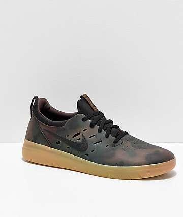 f5178e9b9b Nike SB Nyjah Free Camo & Gum Skate Shoes