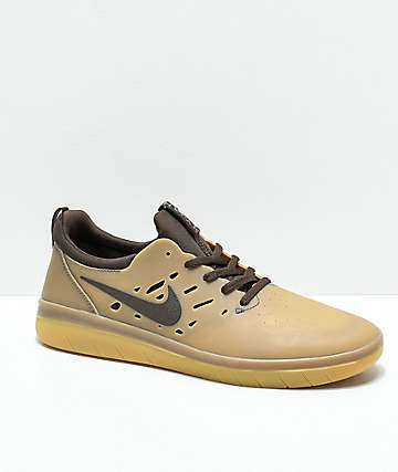 Nike SB Nyjah Free Gum & Dark Brown Skate Shoes