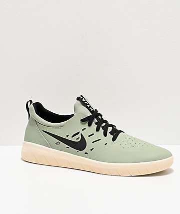 Nike SB Nyjah Free Jade Horizon & White Skate Shoes