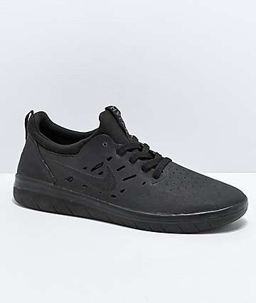 Nike SB Nyjah Free Summit All Black Skate Shoes