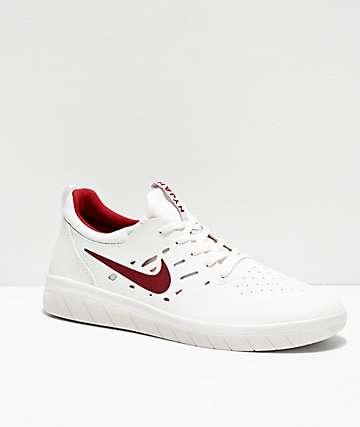 Nike SB Nyjah Free Summit White & Crimson Skate Shoes