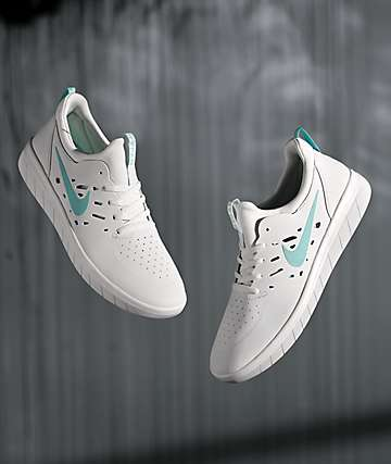 Nike SB Nyjah Free White & Tropical Twist Skate Shoes