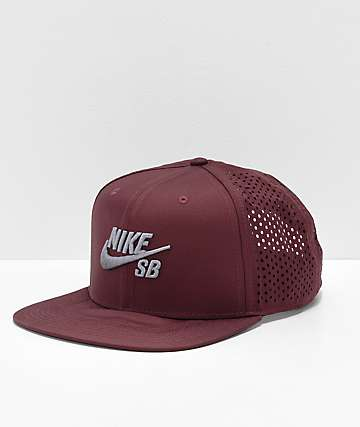 Nike SB Performance Burgundy & Grey Trucker Hat