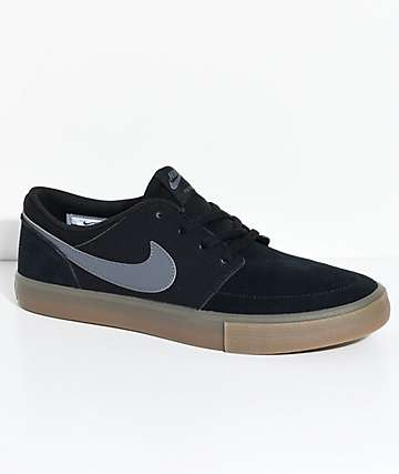c91c328b585c Nike SB Portmore II Black   Gum Shoes