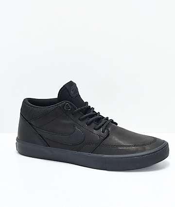 Nike SB Portmore II Mid  Premium Bota Black Skate Shoes
