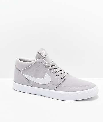 f98cb5b8b3382 Nike SB Portmore II Mid Atmosphere Grey   White Skate Shoes