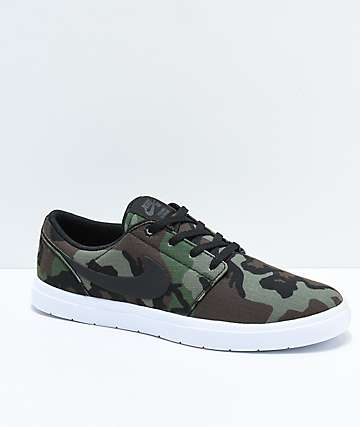 Nike SB Portmore II Ultralight Ripstop Camo Skate Shoes