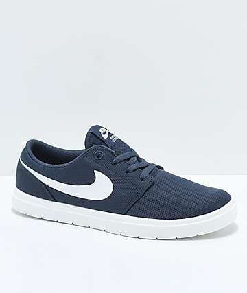 Nike SB Portmore II Ultralight Thunder Blue Skate Shoes