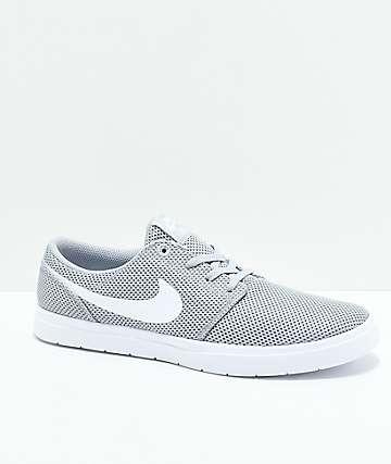 Nike SB Portmore II Ultralight zapatos en gris y blanco