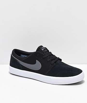 Nike SB Portmore II zapatos de skate en negro y gris