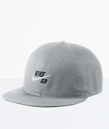 Nike SB Pro Vintage Grey & Green Snapback Hat
