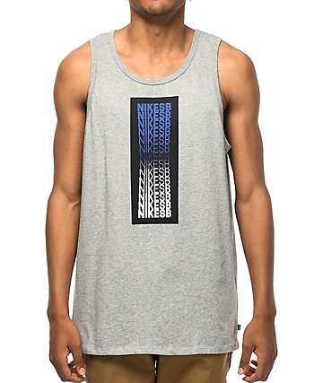 Nike SB Repeat Line Grey Tank Top