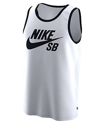Nike SB Ringer White & Black Tank Top