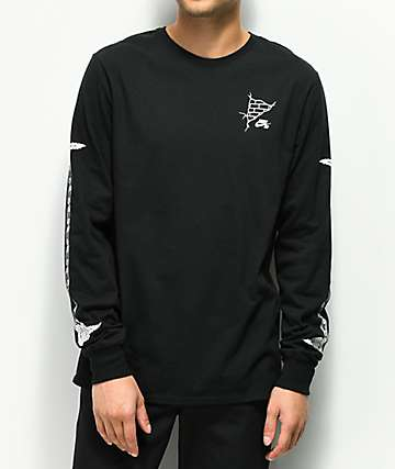 Nike SB Roses Black & White Long Sleeve T-Shirt