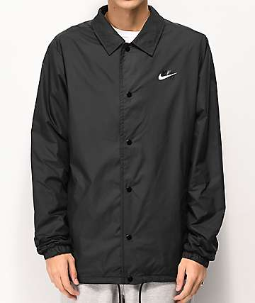 Nike SB Shield Black & White Coaches Jacket