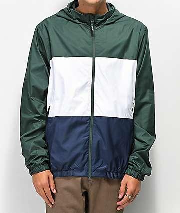 Nike SB Shield chaqueta cortavientos verde, blanca y azul