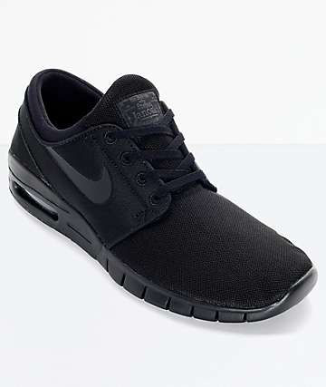 Nike SB Stefan Janoski Air Max Black and Anthracite Mesh Skate Shoes