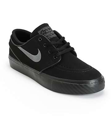 Nike SB Stefan Janoski Black & Anthracite Boys Skate Shoes