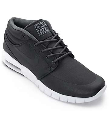 Nike SB Stefan Janoski Mid Anthracite Black & White Skate Shoes