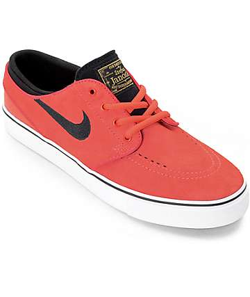 Nike SB Stephan Janoski Ember Glow & White Boys Skate Shoes