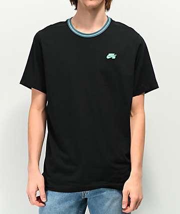 Nike SB Striped Rib Black T-Shirt