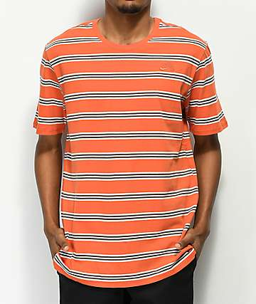 Nike SB Summer Stripe Orange T-Shirt