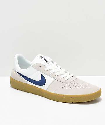 Nike SB Team Classic White & Gum Skate Shoes