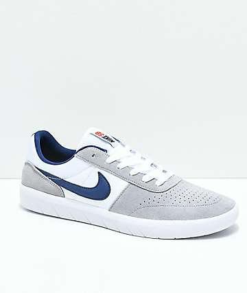 Nike SB Team Classic Wolf Grey & White Skate Shoes