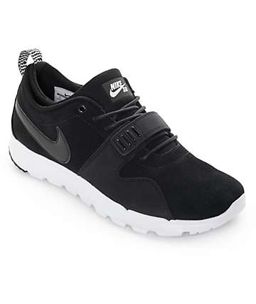 Nike SB Trainerendor Black & White Shoes