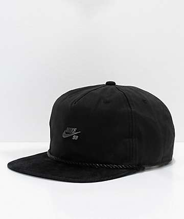 Nike SB Waxed Canvas Black Strapback Hat