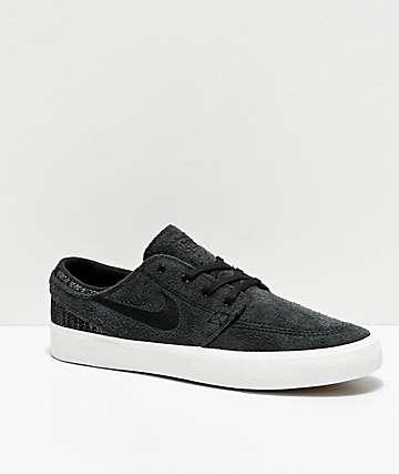Nike SB Zoom Janoski RM Premium Black Skate Shoes