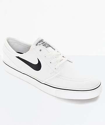 Nike SB Zoom Janoski Summit zapatos de skate de lona blancos