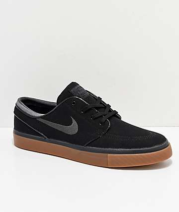 low priced 824e2 8865b Nike SB Zoom Stefan Janoski Black, Anthracite,   Gum Canvas Shoes