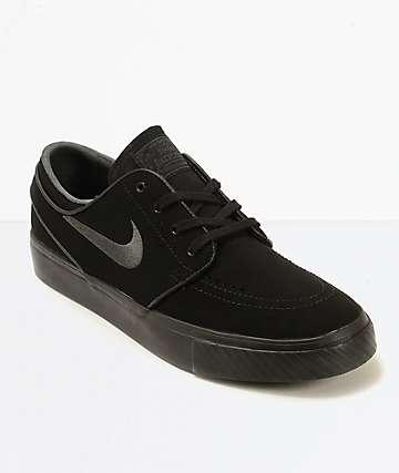 Nike SB Zoom Stefan Janoski Mono Black & Anthracite Skate Shoes