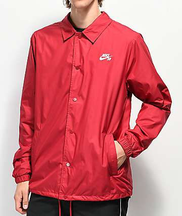 Nike SB chaqueta entrenador roja