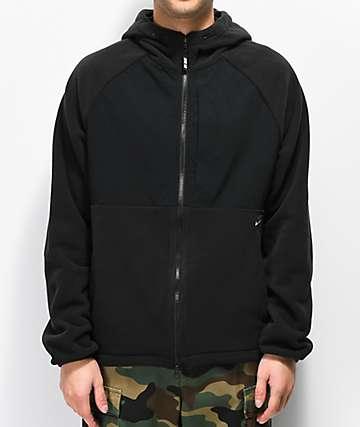 Nike SB sudadera con capucha de polar negro
