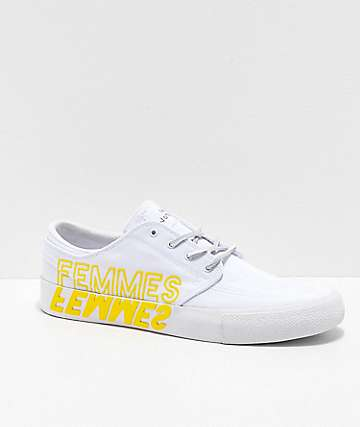 Nike SB x The Violent Femmes Janoski RM White Canvas Skate Shoes