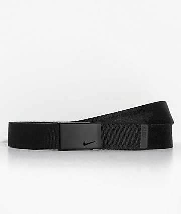 Nike Single Black Web Belt