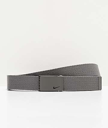 Nike Single Grey Web Belt