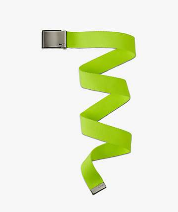 Nike Single Volt Green Web Belt