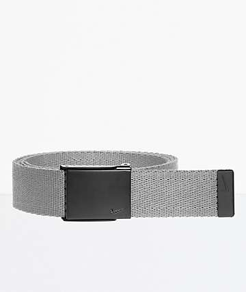 Nike Tech Essentials Grey & Black Web Belt