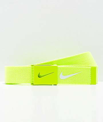 Nike Tech Essentials Volt Green Web Belt